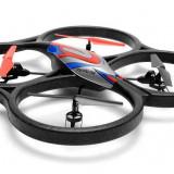 Drona iUni V262, leduri pentru exterior, Telecomanda WiFi, Giroscop, Rosu