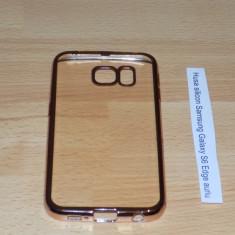 Husa silicon Samsung Galaxy S6 Edge auriu