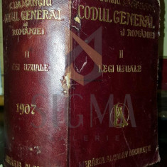 C. HAMANGIU - CODUL GENERAL AL ROMANIEI, 1856-1907, VOLUMUL II, LEGI UZUALE - Carte Drept comercial