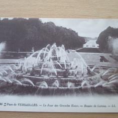 Carte postala necirculata Franta anii'20 Versailles - bassin de Latone, Printata
