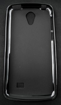 Husa plastic siliconat Vodafone Smart First 7 NEGRU foto
