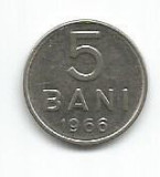 No(2) moneda-ROMANIA- 5 bani 1966