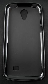 Husa plastic siliconat Vodafone Smart Ultra 7 NEGRU foto