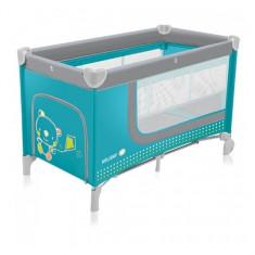 Patut pliabil cu 2 nivele Holiday Turquoise Baby Design - Patut pliant bebelusi Baby Design, Albastru