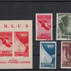 ROMANIA 1945, LP 171, LP 172, ARLUS SERIE SI COLITA, MNH, LOT 0 RO - Timbre Romania, Nestampilat