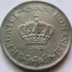 Moneda ISTORICA 20 LEI - ROMANIA, anul 1942  *cod 3361 - ZINC