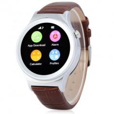 Smartwatch cu telefon iUni S33, Bluetooth, Pedometru, Monitor somn, Slot card, Carcasa metalica, Notificari, Argintiu