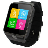 Ceas Smartwatch cu Telefon iUni S29, Camera, BT, Carcasa metalica, Negru
