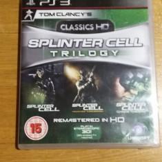 PS3 Splinter cell Trilogy HD / 3D compatible - joc original by WADDER - Jocuri PS3 Ubisoft, Shooting, 16+, Single player