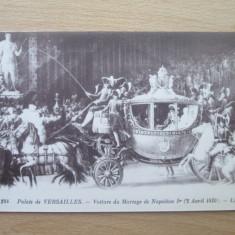 Carte postala necirculata Franta anii'20 Versailles - mariage de Napoleon, Printata