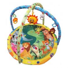 Saltea de joaca muzicala Animals Baby Mix - Tarc de joaca Baby Mix, Multicolor