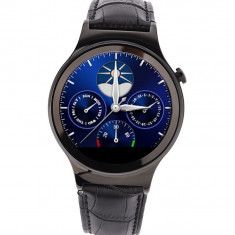 Smartwatch cu telefon iUni S33, Bluetooth, Pedometru, Monitor somn, Slot card, Carcasa de metal, Notificari, Negru