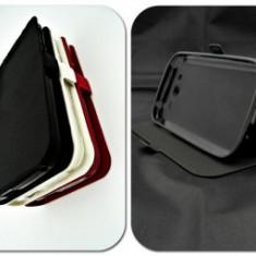 Husa FlipCover Stand Magnet Vodafone Smart Mini 7 NEGRU - Husa Telefon Vodafone, Plastic, Cu clapeta