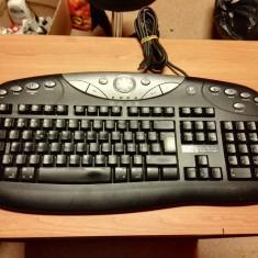 Tastatura PC Logitech Model Y-BF38 Swiss, Multimedia, Cu fir, USB