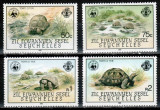 Seychelles Zil Elwannyen 1985 WWF, Mi #104-107**, testoase, MNH, cota 25 €!, Natura, Nestampilat