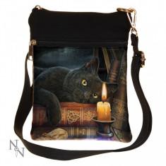 Gentuță de umăr cu pisică Ora Vrăjitoarelor - Gentuta Copii