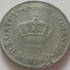 Moneda 20 Lei - ROMANIA, anul 1942 *cod 3373 Zinc