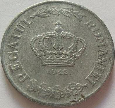 Moneda 20 Lei - ROMANIA, anul 1942 *cod 3373 Zinc foto