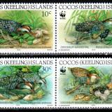 Cocos Islands 1992 WWF, Mi #267-270**, pasari, MNH, cota 6 €! - Timbre straine, Natura, Nestampilat
