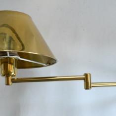 Lot 6 aplice, lampi de perete cu brat articulat si abajur metalic auriu
