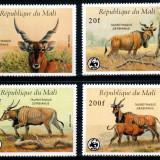 Mali 1986 WWF, Mi #1078-1081**, animale, MNH, cota 28 €! - Timbre straine, Natura, Nestampilat