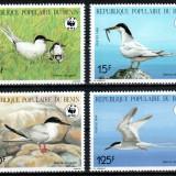 Benin 1989 WWF, Mi #476-479**, pasari, MNH, cota 11 €! - Timbre straine, Natura, Nestampilat