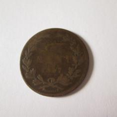 ROMANIA 5 BANi 1867 HEATON - Moneda Romania, Cupru-Nichel