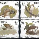 Filipine 1991 WWF, Mi #2038-2041**, pasari, MNH, cota 13 €! - Timbre straine, Natura, Nestampilat