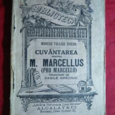 Marcus Tullius Cicero - Pro Marcello , cca.1915 , BPT nr.962, trad.V.Greciuc