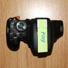 Panou superior DSLR Canon EOS 600D blitz, declansator, switch moduri