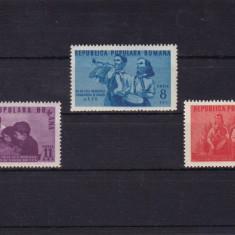 ROMANIA 1950, LP 265, 1 AN INFIINTARE ORGANIZATIA DE PIONIERI SERIE MNH - Timbre Romania, Nestampilat