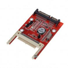 """Adaptor convertor card de memorie Compact Flash CF I/II la SATA 2.5"""" 22 pini"""