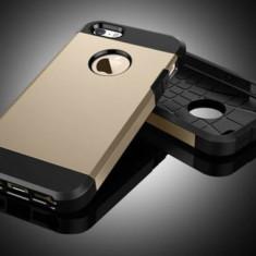 Husa iPhone 5 5S SE TPU Hybrid Gold - Husa Telefon Apple, Auriu, Gel TPU, Fara snur, Carcasa
