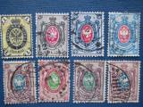 TIMBRE RUSIA VECHI =1865=1900 SET STAMPILAT