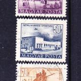 Timbre UNGARIA 1953 = VEDERI URBANE - Timbre straine, Stampilat