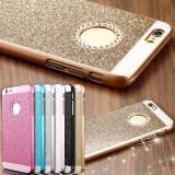 Husa iPhone 6 6S Diamonds Neagra, iPhone 6/6S, Negru, Plastic, Apple
