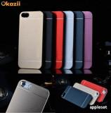 Husa iPhone 5 5S SE Aluminiu Gold, iPhone 5/5S/SE, Auriu, Metal / Aluminiu, Apple