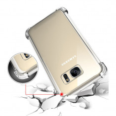 Husa Samsung Galaxy S6 Edge TPU Crashproof Transparenta - Husa Telefon Samsung, Gel TPU, Fara snur, Carcasa