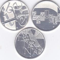 Set 3 monede Franta 5 Euro 2013 - PROOF (Liberte, egalite, fraternite - argint), Europa