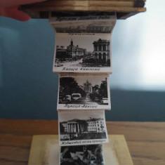 Casuta de lemn suvenir din Kiev (Ucraina), vechi, vintage, anii '80, cu poze
