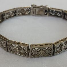Bratara argint art deco Franta 1920 SPLENDIDA finuta DELICATA executata manual