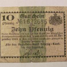 CY - 10 pfennig 1918 Leipzig Germania talon notgeld