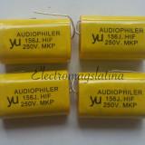 Condensator 15uF - 250v cu polipropilena pentru filtre de boxe