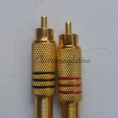 Mufe RCA tata aurite de metal - Mufa