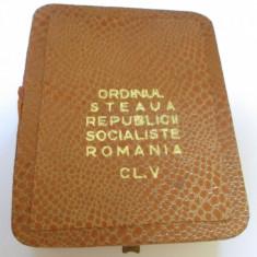 ORDINUL STEAUA REPUBLICII SOCIALISTE ROMANIA CL.5 IN CUTIA ORIGINALA