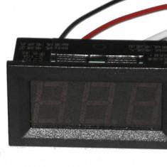 C27D - Ampermetru digital de panou, DC 0-9.99A, afisaj rosu, cod:10100130