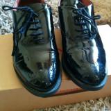 Pantofi oxford Benaza, piele - Pantof barbat, Marime: 37, Piele naturala, Negru