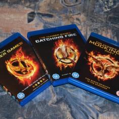 Film - The Hunger Games: Triple Pack [3 Filme Blu-Ray - 3 Discuri], Release UK - Film actiune lionsgate, Engleza