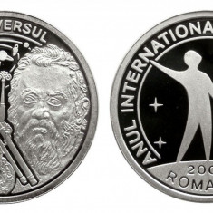MEDALIE BNR 2009 GALILEO GALILEI ARGINT UNC PROOF 1000 EXEMPLARE - Medalii Romania