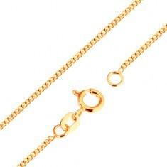 Lanţ din aur de 9K - zale ovale plate, unite dens, 500 mm - Lantisor aur